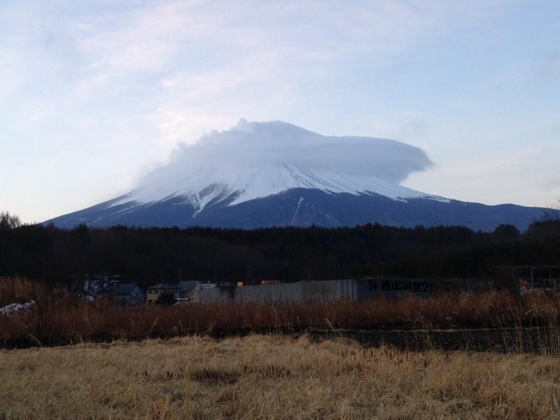 河口湖2月23日今日の富士山