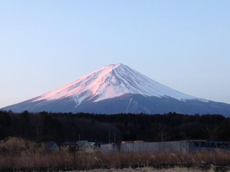 河口湖2月28日今日の富士山