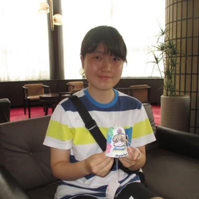 日本で風鈴絵付け体験しました。