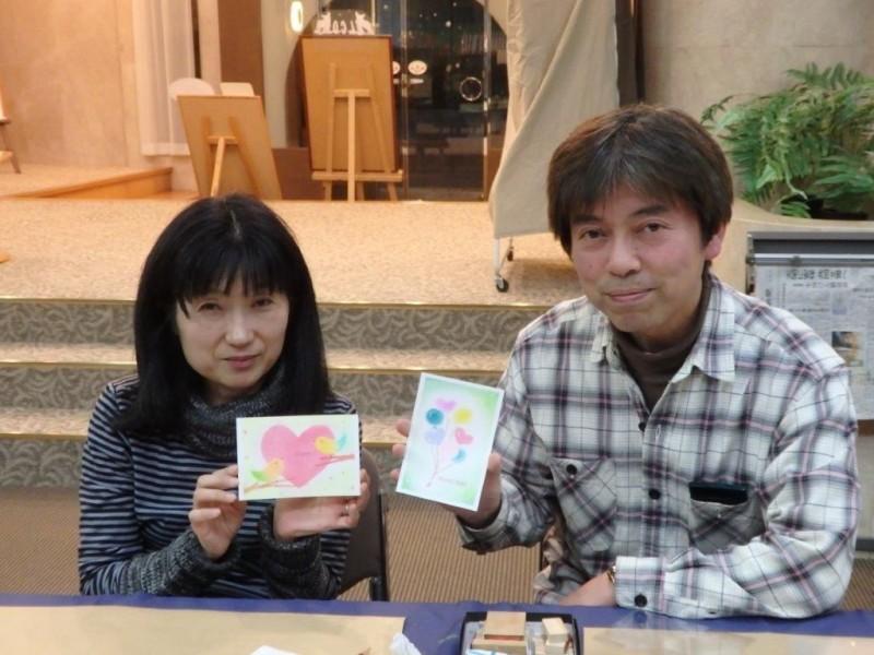 2017.2.10パステル画イベント清水様ご夫妻
